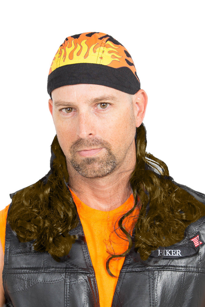 The Fury Skullcap mullet in brown