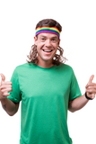 The Rainbow Warrior Mullet Headband