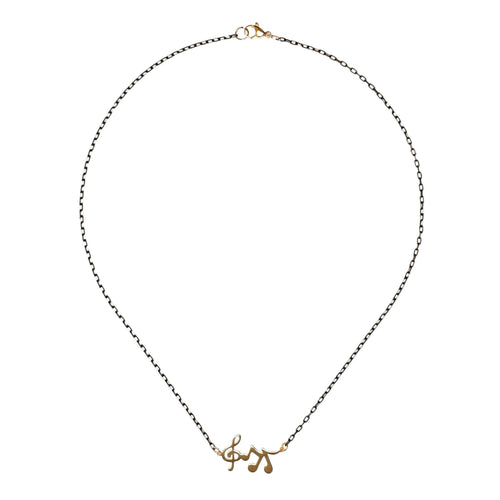 DESTINY – Gold-plated Music Necklace