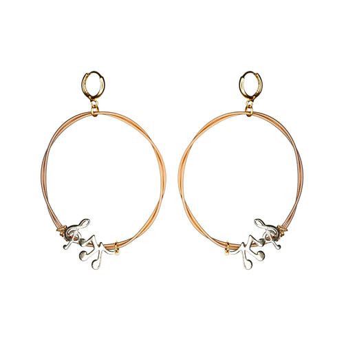 ETERNITY – Guitar String Hoop Earrings