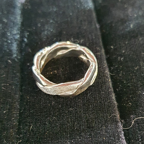 Silver Twist Ring Small