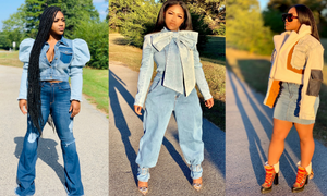 GOLDxTEAL Denim Jackets and Denim Butterfly Top
