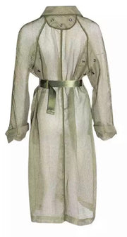 GoldxTeal Josh Fresh Trench coat. Stunning simple yet statement making light weight trench with oversized front pockets and industrial waist belt.