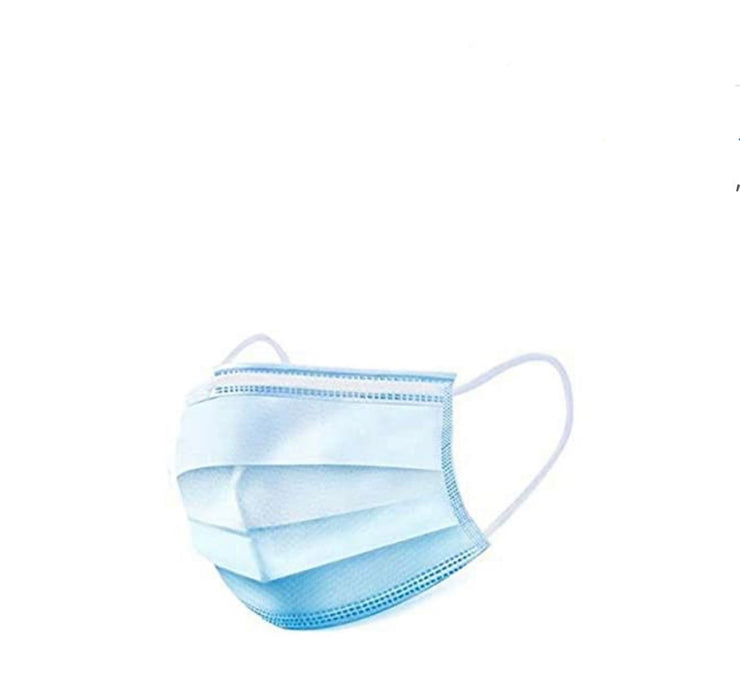 GOLDxTEAL Breathable disposable face mask with 3 ply filters and elastic ear loops. Set of 50.