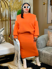 Tanna Orange Skirt Set