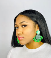 Marla Green Fan Tassel Earrings