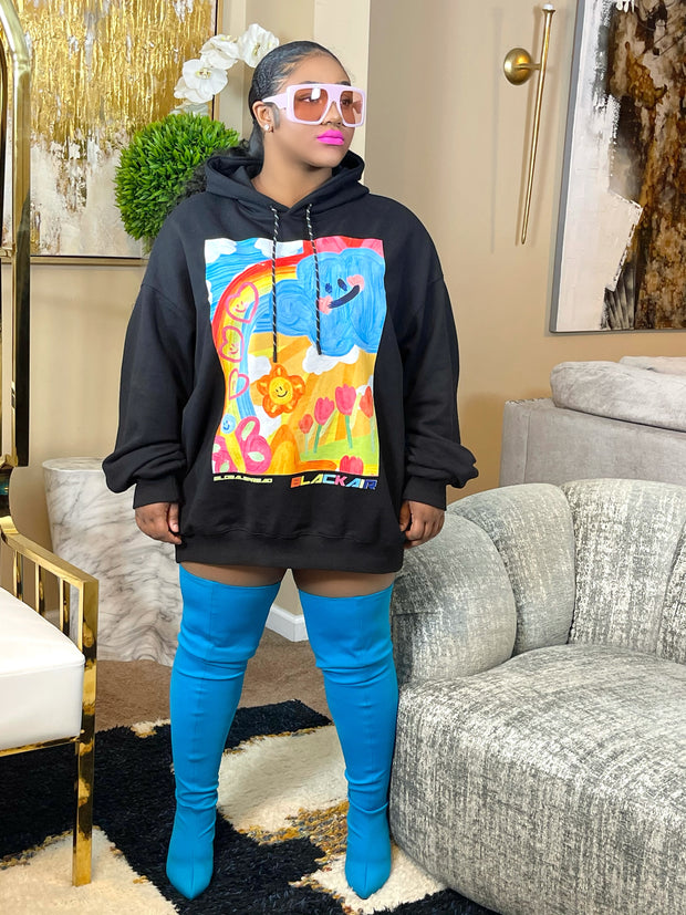 GOLDxTEAL stylish colorful hoodie.