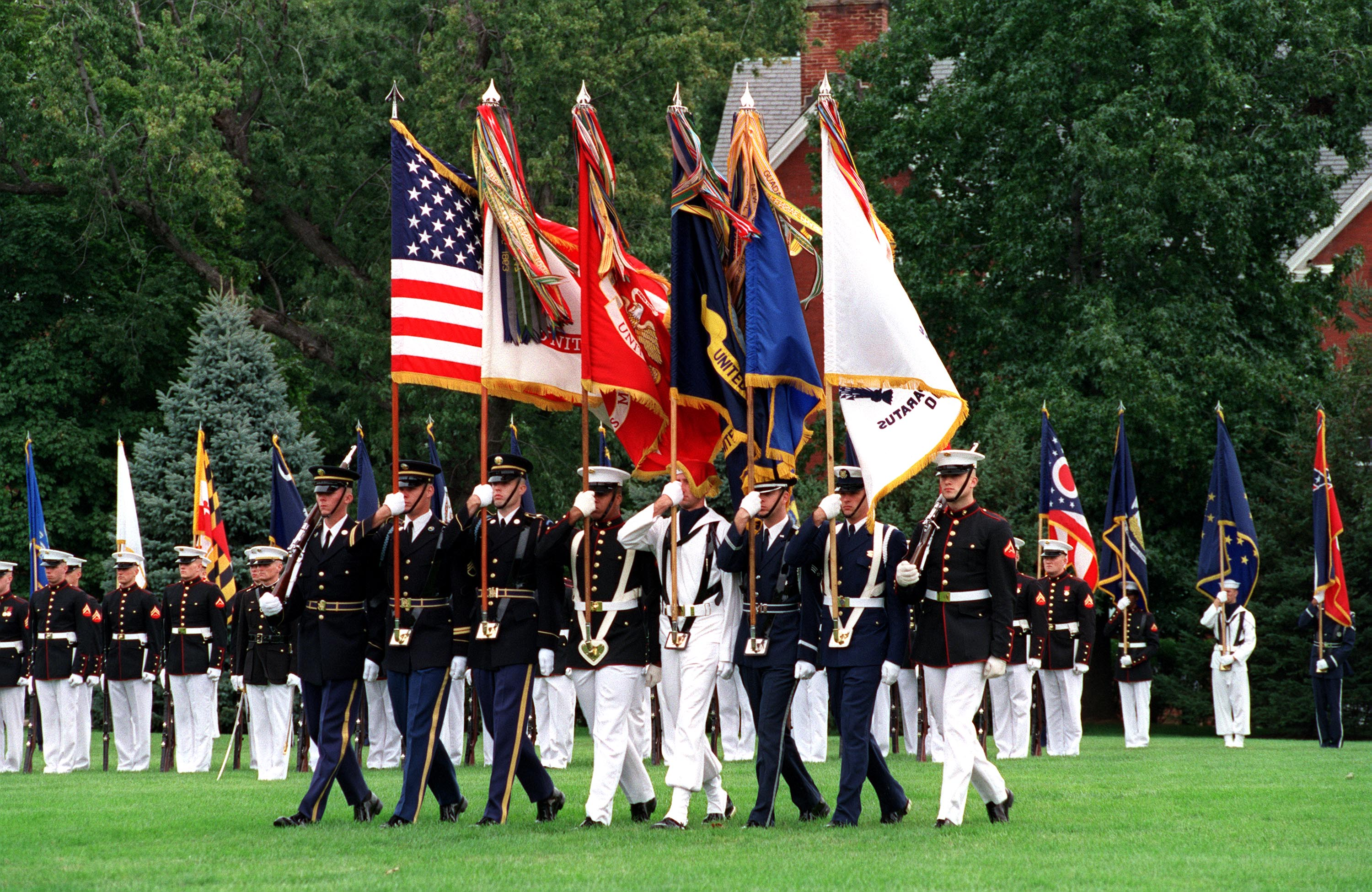 The Joint Service Color Guard