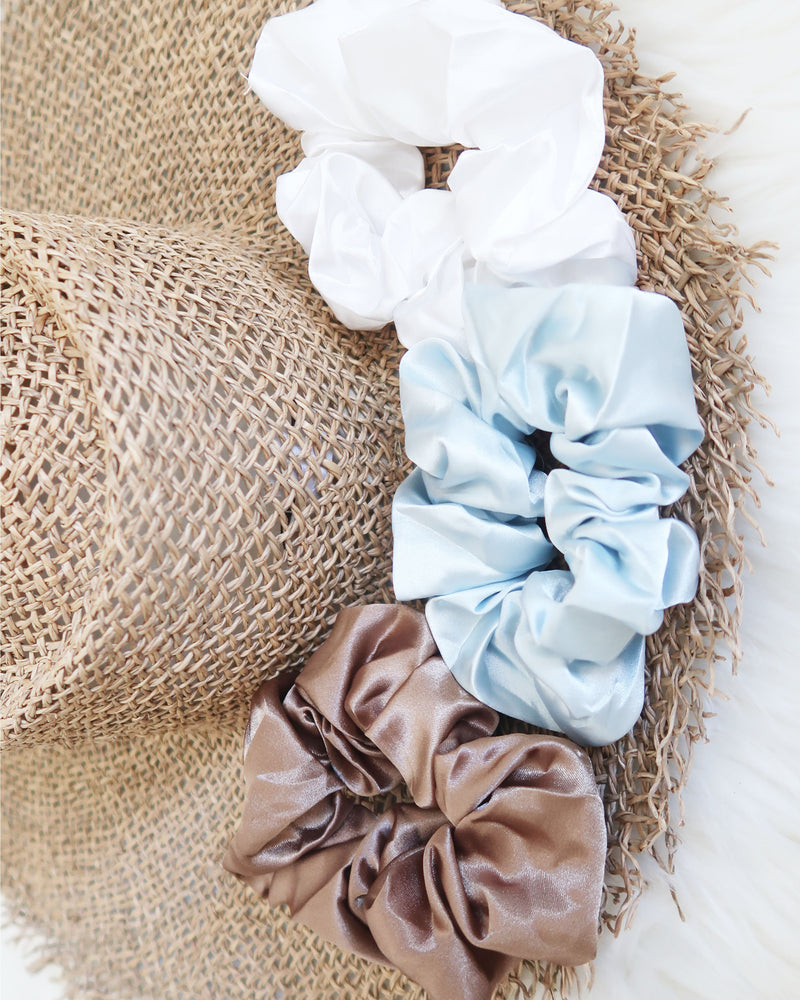 White Hot Scrunchie