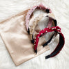 Red Velvet Pearl Headband LIMITED HOLIDAY EDITION