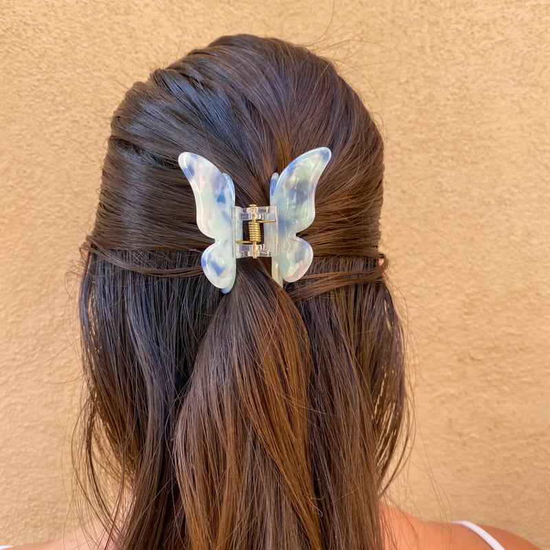 White Butterfly Hair Clip
