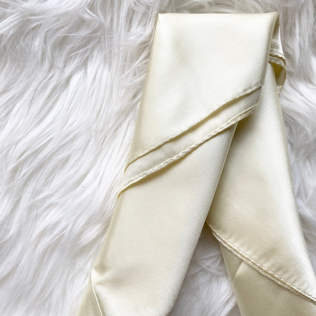 Cream Summer Silk Scarf
