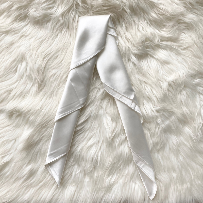 White Summer Silk Scarf