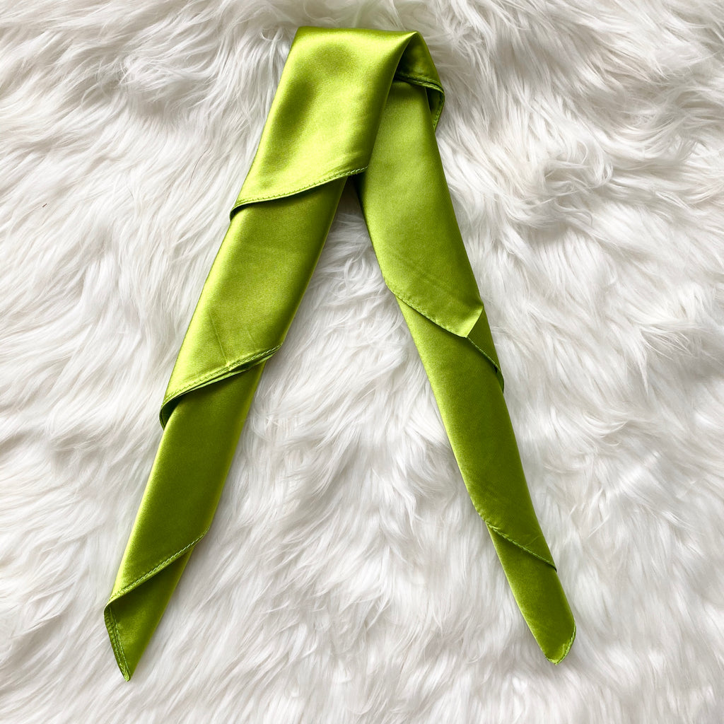 Green Summer Silk Scarf