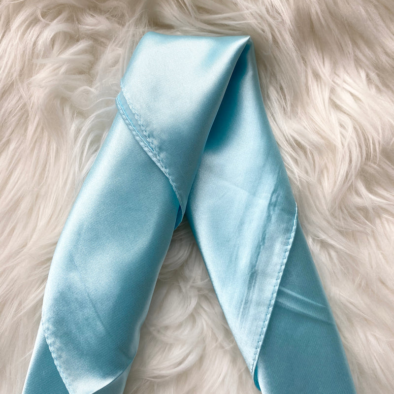 Baby Blue Summer Silk Scarf