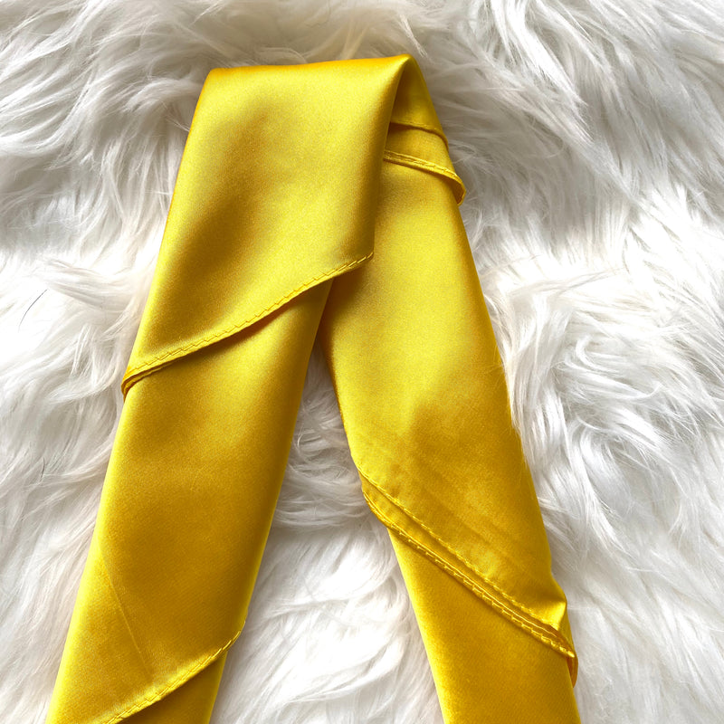 Yellow Summer Silk Scarf