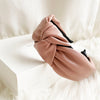 Blush Faux Leather Headband