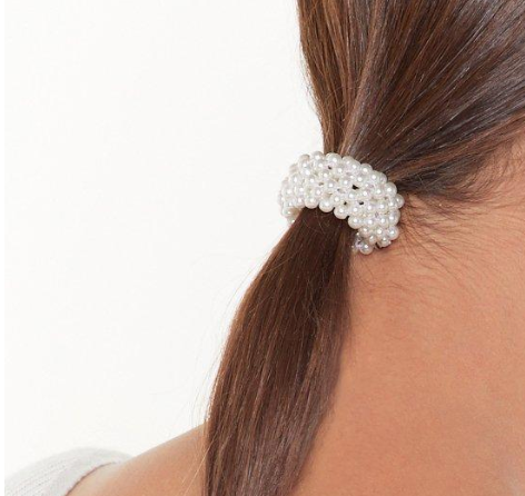 Luxe Pearl Scrunchie