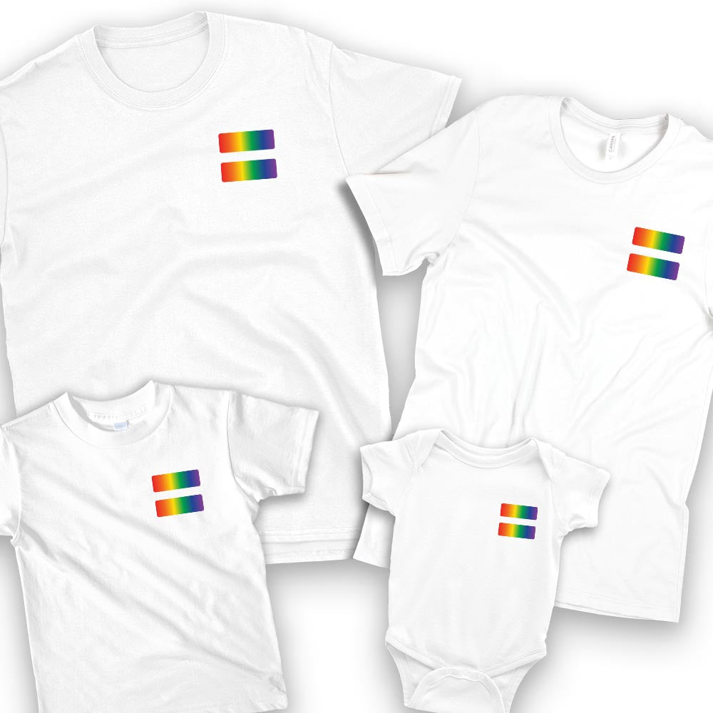 family pride parade t shirt set