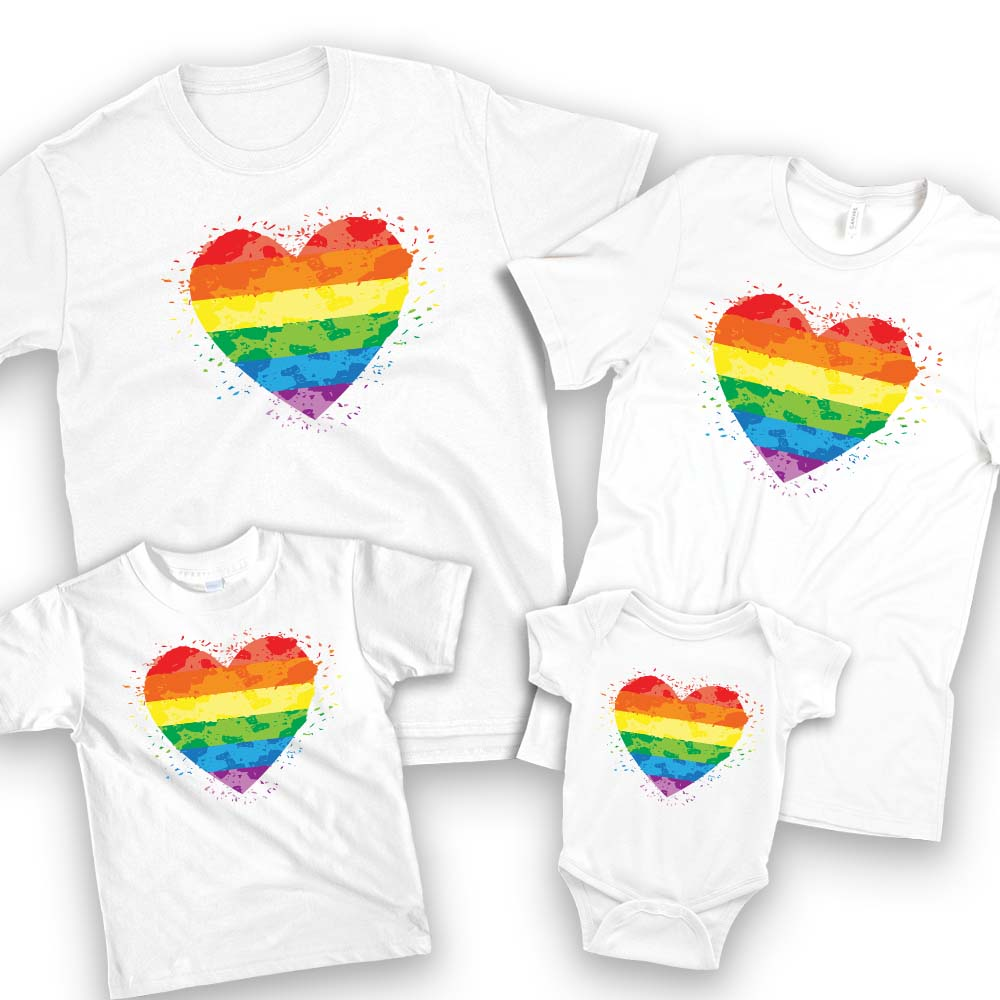 LGBT pride family matching shirts