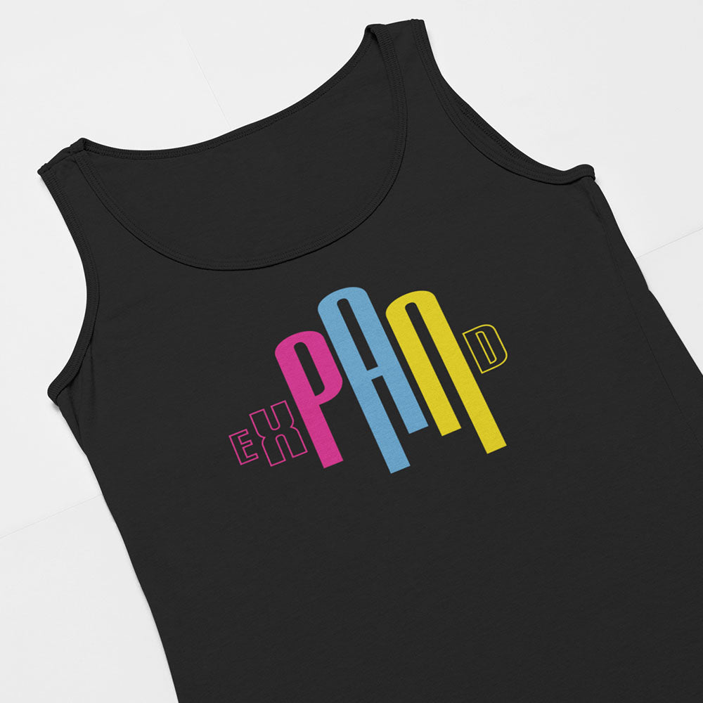 different angle for LGBTQ Pride Tank top shirt for pansexual
