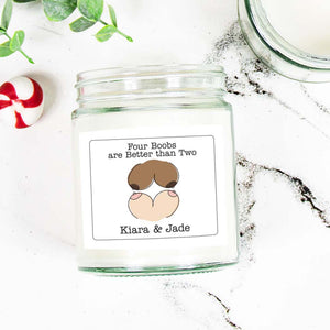 Lesbian Gift Candle for Couple Same Sex