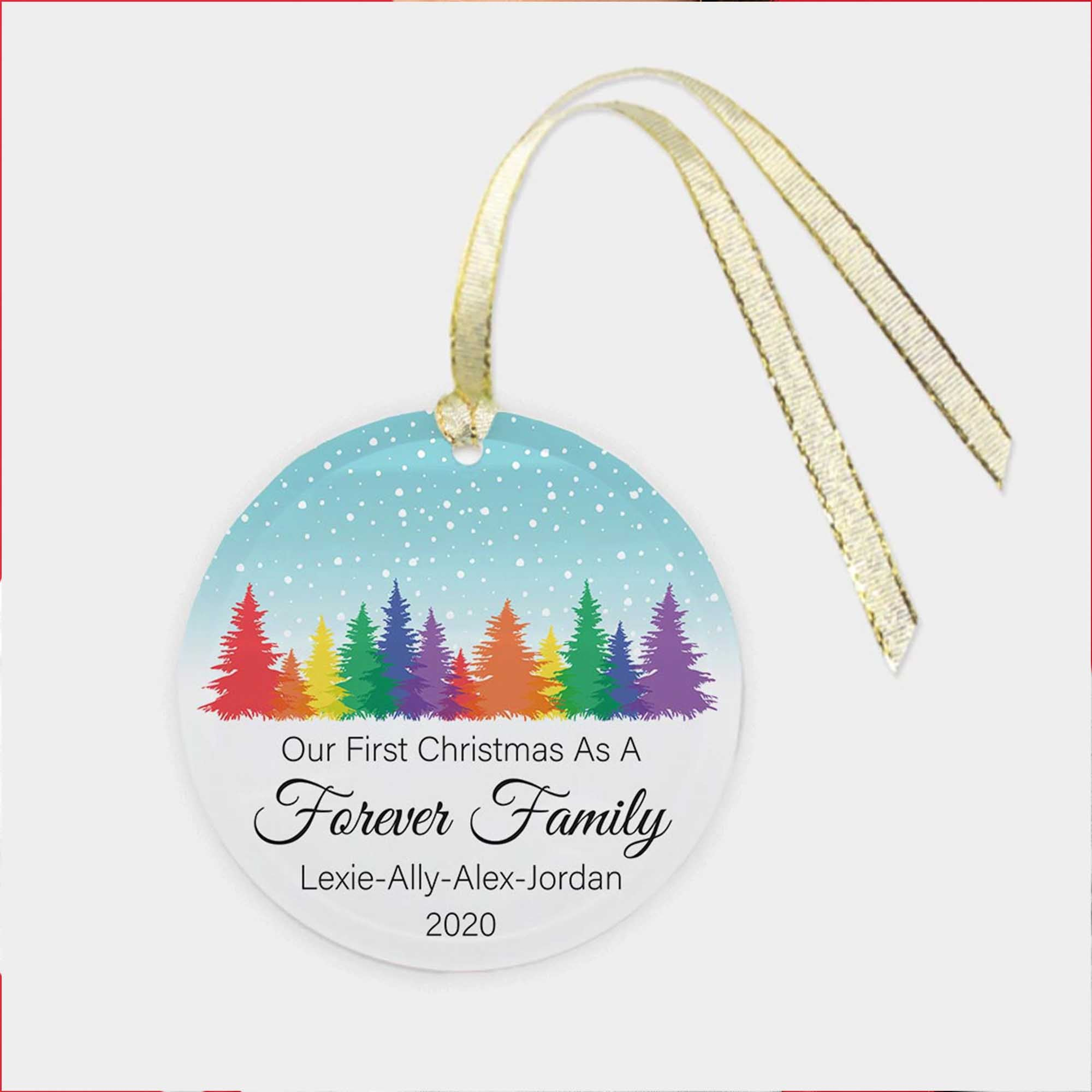 Our First Christmas As A Forever Family - Custom Ornament