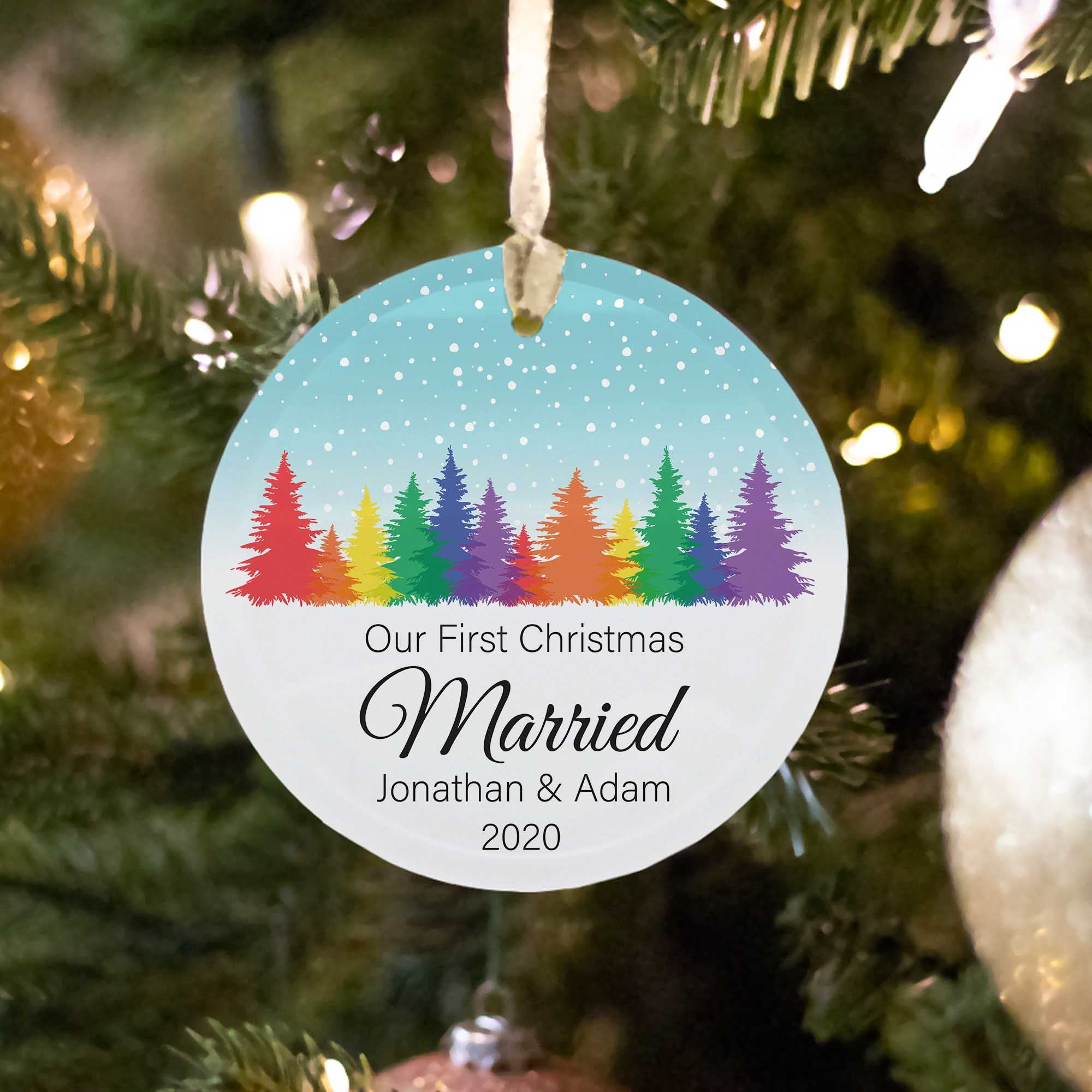 Our First Christmas as Married - Custom Ornament
