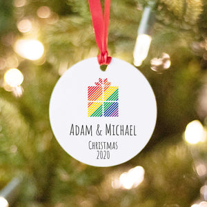 Rainbow Color Gift on LGBTQ Ornament