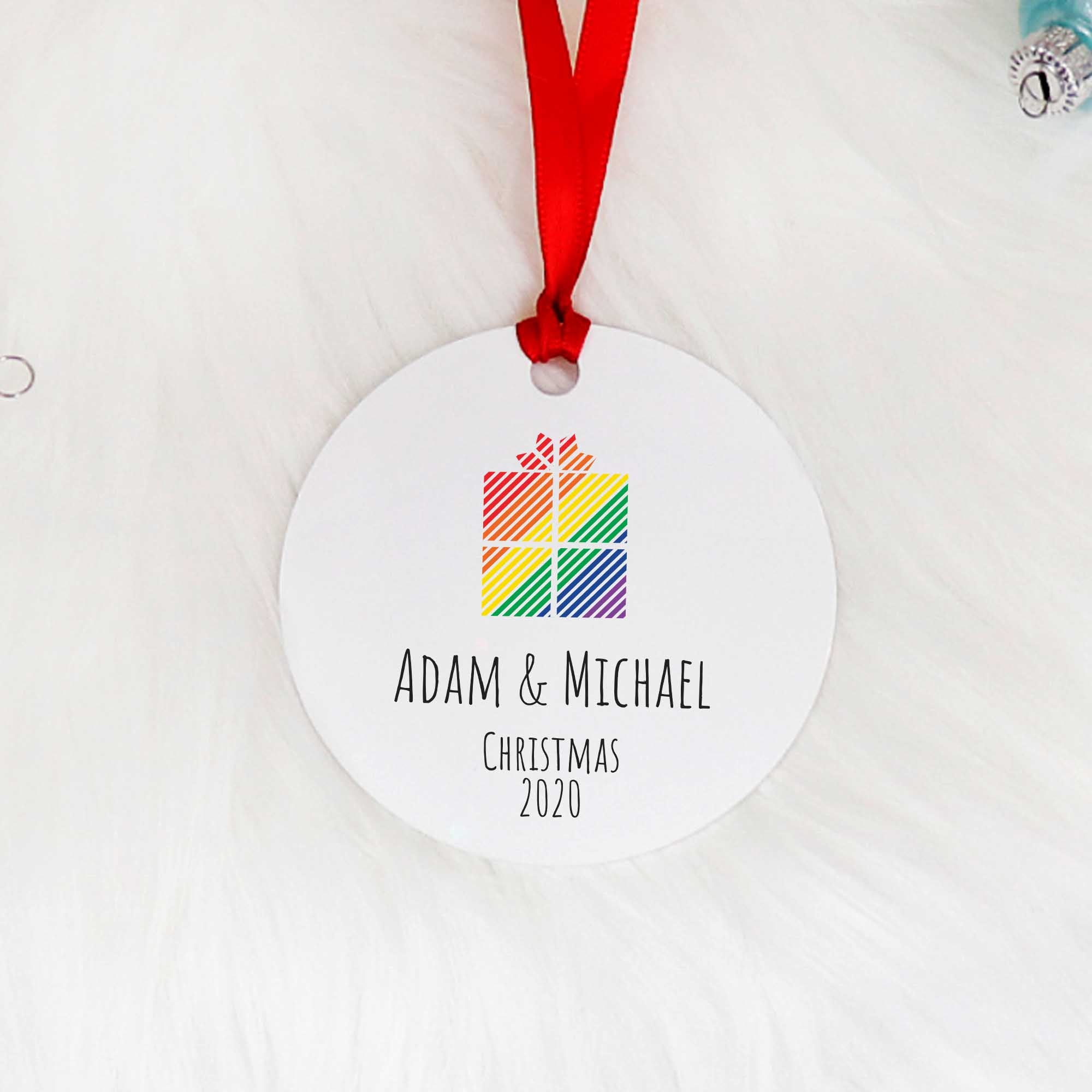 Christmas ornament for gay couple
