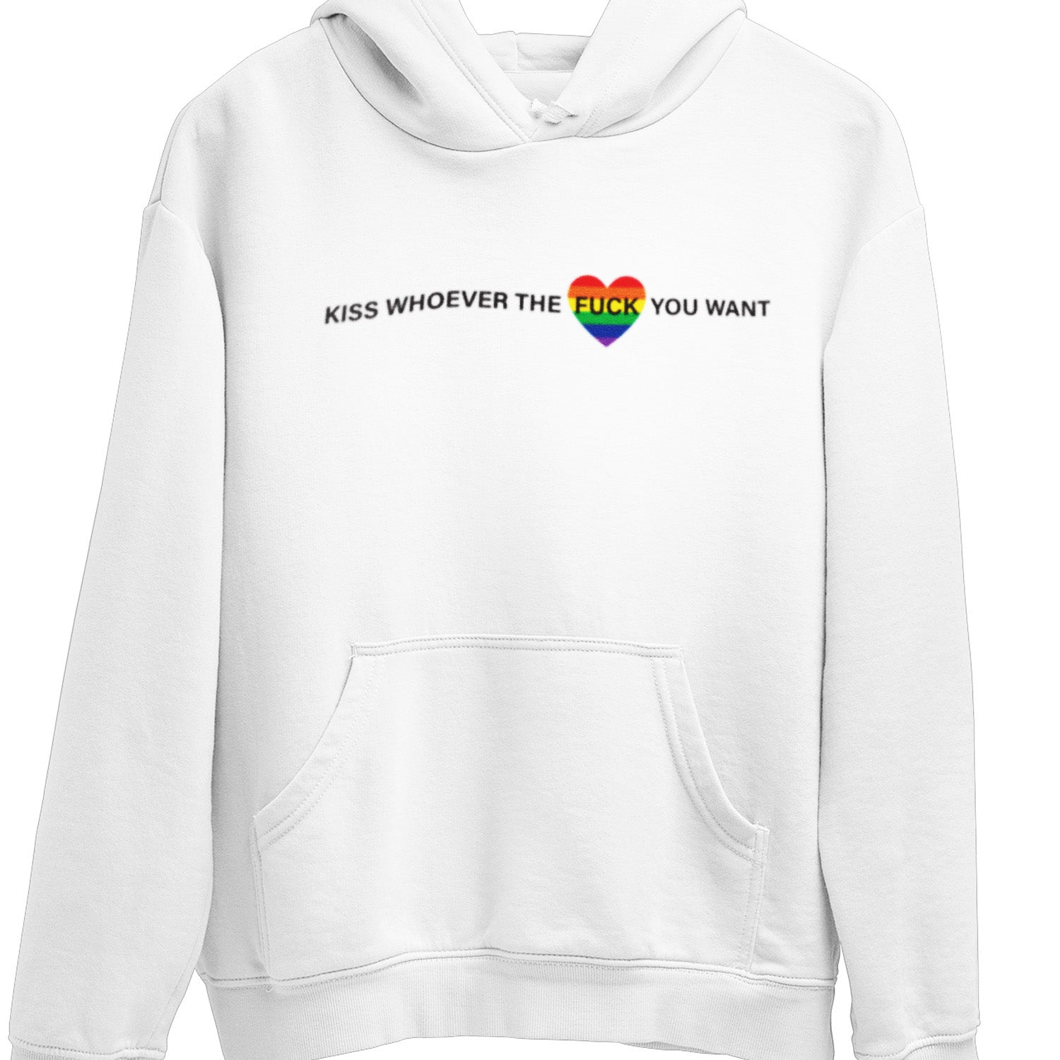 Kiss who ever the fuck you want LGBTQ Pride hoodie