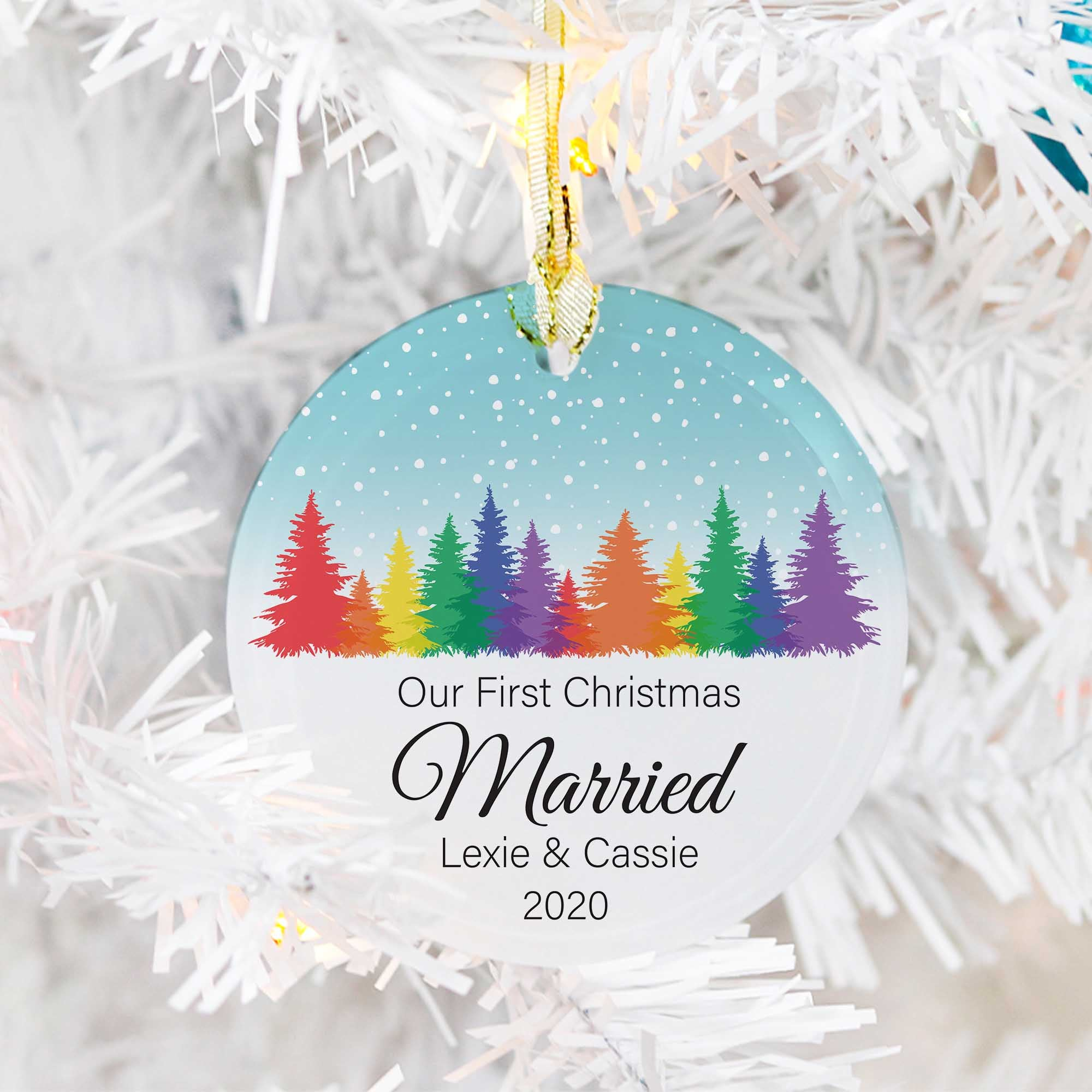 LGBTQ Our First Christmas as Married couple