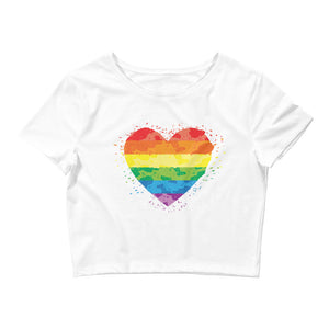 LGBTQ pride rainbow heart shirt