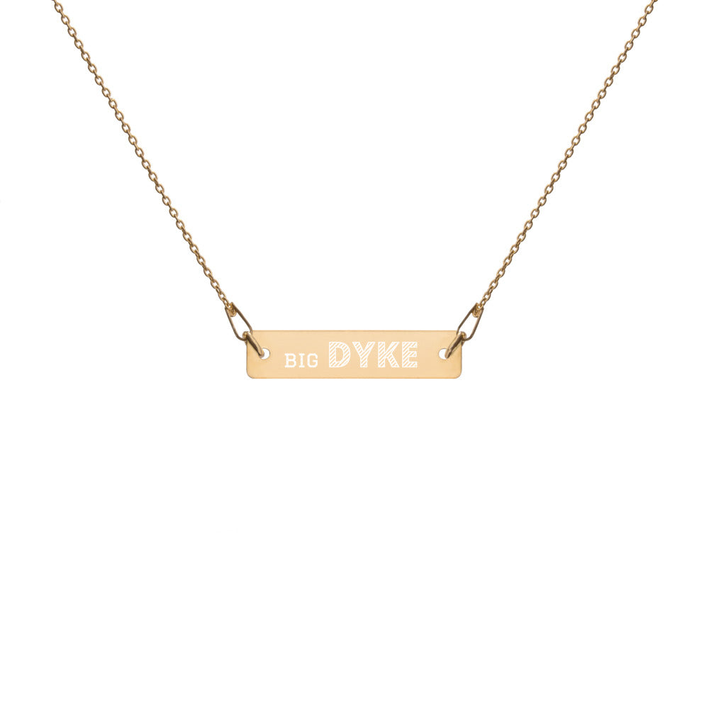 Gold filled Big Dyke Lesbian Necklace for World pride 2020