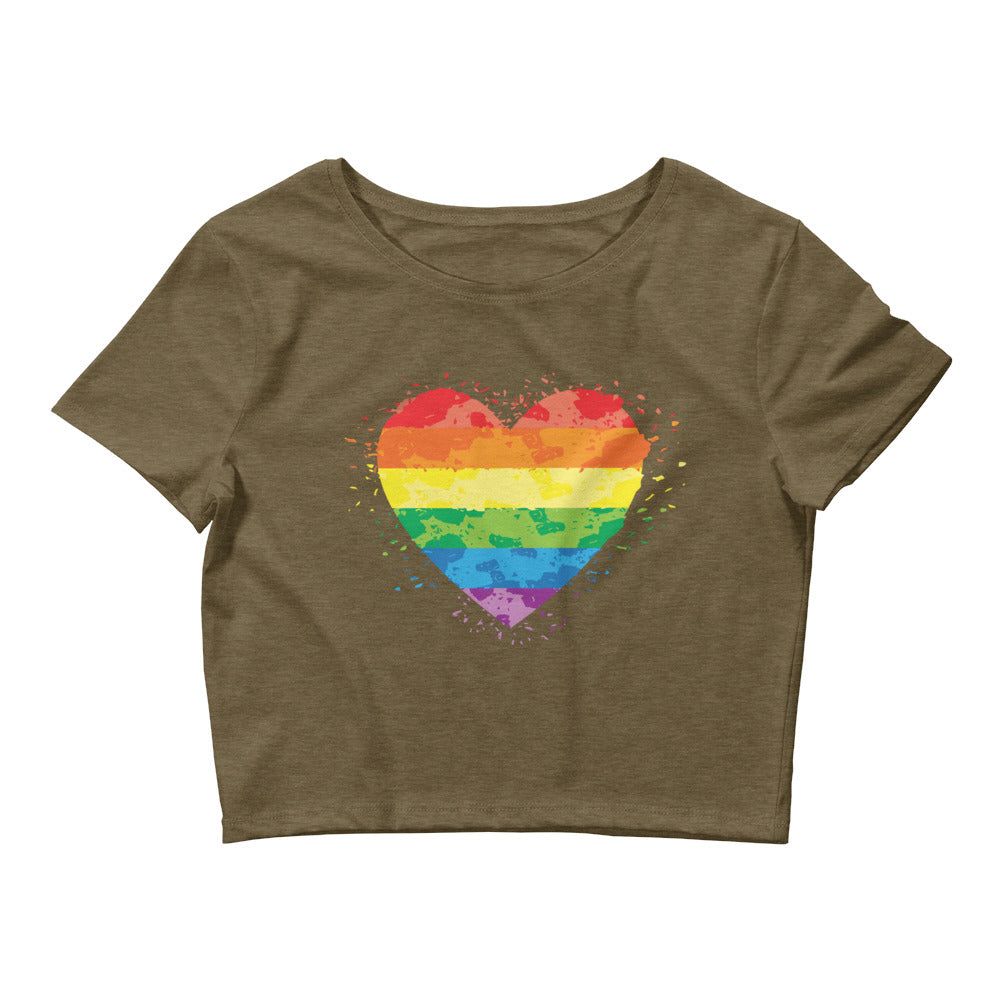 LGBTQ Pride heart with rainbow colors shirt