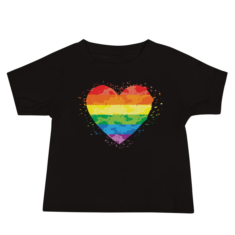 Rainbow Heart Baby T Shirt