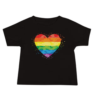 Open image in slideshow, Rainbow Heart Baby T Shirt