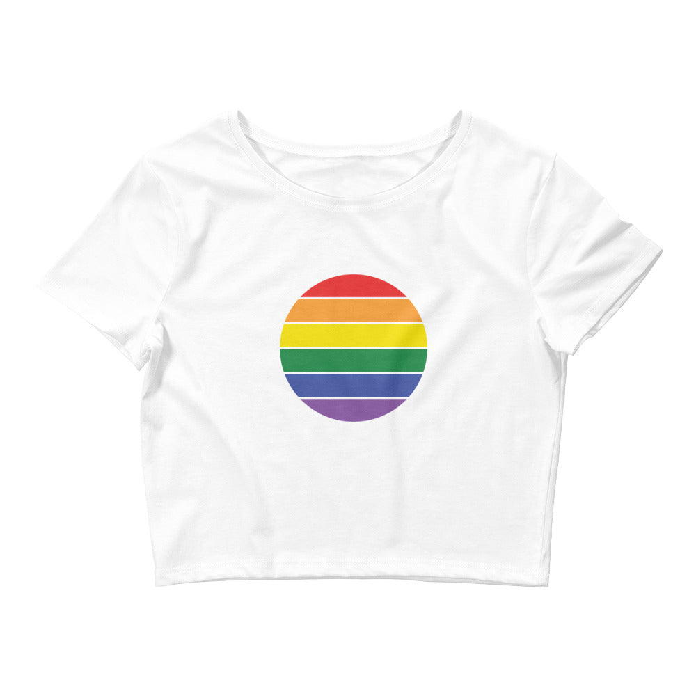 Rainbow Superpower Crop Tee