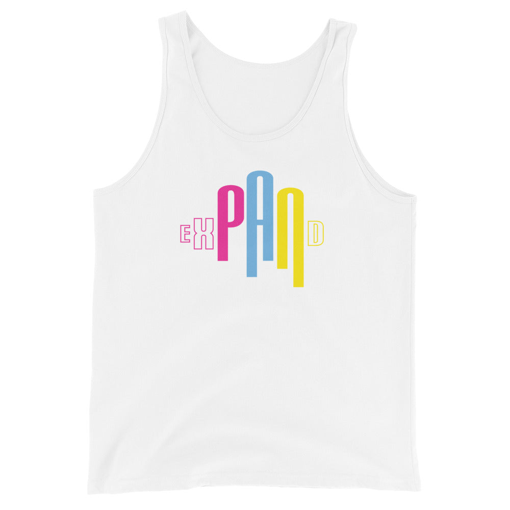 White Pansexual tank top for pride parade 2020