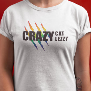 Open image in slideshow, Crazy Cat Lezzy Short-Sleeve Unisex T-Shirt