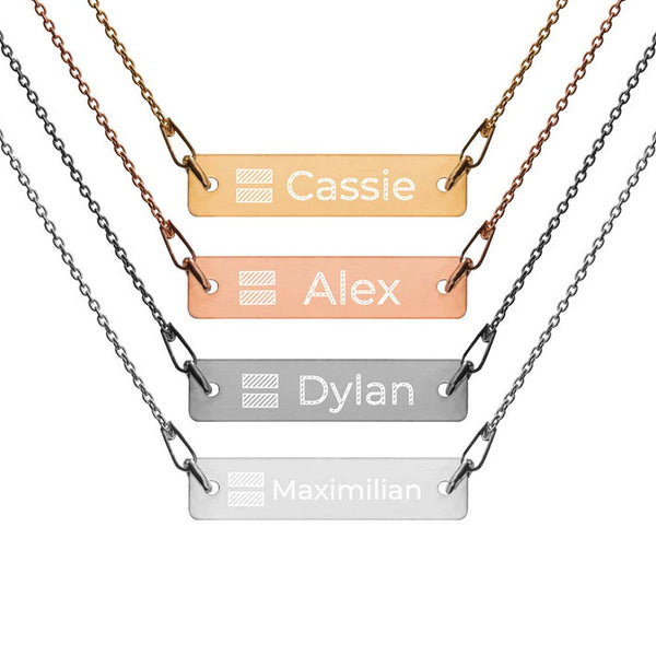 EQUAL Bar Name/Date Customized Necklace