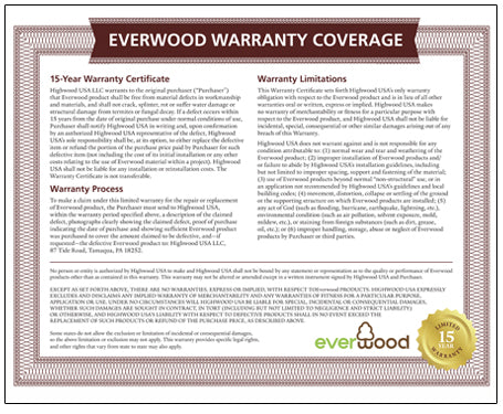 Everwood Warranty