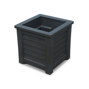 "Harlowe 16"" x 16"" Outdoor Planter Highwood USA Coal"