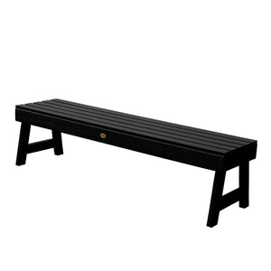 Weatherly Picnic Backless Bench - 5ft BenchSwing Highwood USA Black