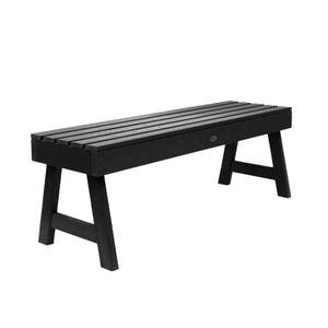 Weatherly Picnic Backless Bench - 4ft BenchSwing Highwood USA Black
