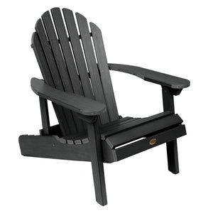 Hamilton Folding & Reclining Adirondack Chair Adirondack Chairs Highwood USA Black