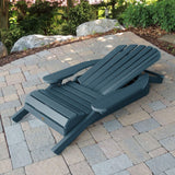 2 Hamilton Folding & Reclining Adirondack Chairs, 2 Ottomans & 1 Folding Side Table Highwood USA