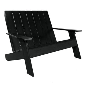 Barcelona Double Wide Modern Adirondack Chair Highwood USA Black