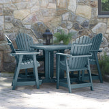 Hamilton 5pc 48in Round Dining Set - Counter Height Dining Highwood USA