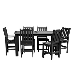 Lehigh 7pc Rectangular Dining Set 37in x 72in - Counter Height Dining Highwood USA Black